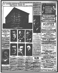 The newspaper article about the grand opening of The Gunter Hotel in 1909.