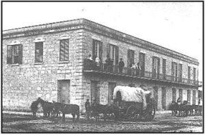 The Vance brothers purchased the Frontier Hotel and replaced the hotel with a two-story building that the army could lease to house troops stationed in San Antonio. The facility continued to serve as a military headquarters until 1872 when the building was returned to the Vance's.