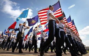 Lackland Fiesta Military Parade. Photo courtesy of the San Antonio Express News.